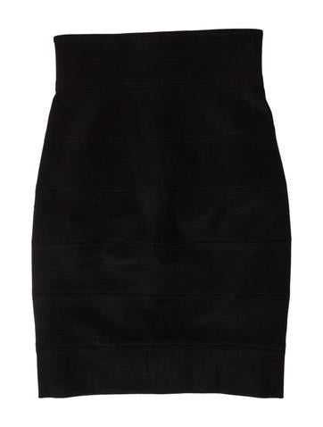 The Row Wool Bodycon Skirt None