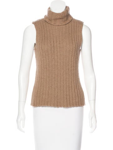 The Row Turtleneck Rib Knit Sweater None