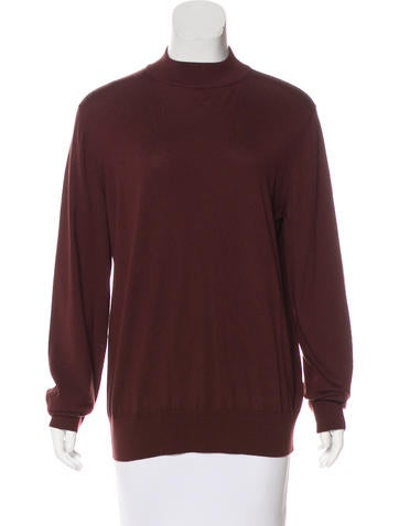 The Row Wool Mock Neck Sweater None