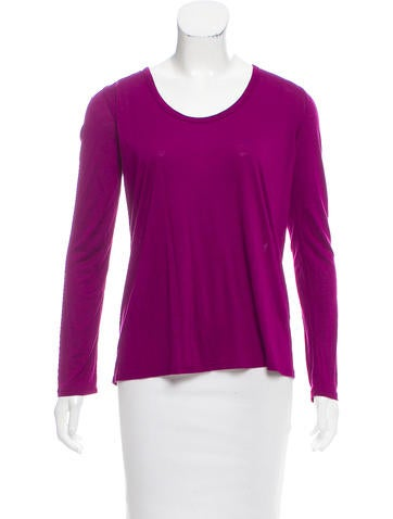 The Row Knit Long Sleeve Top None