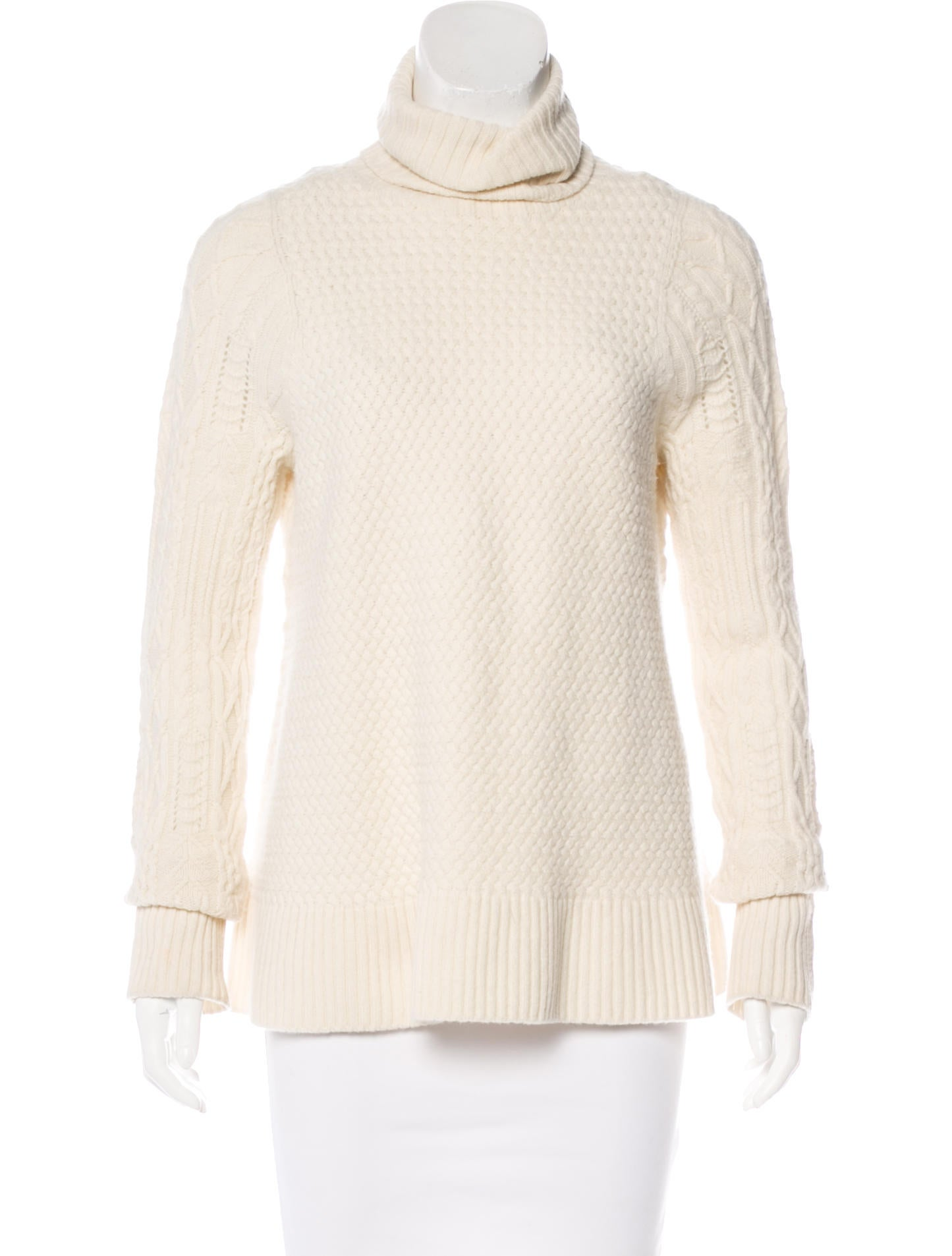 The Row Cable Knit Turtleneck Sweater - Clothing - THR34321 | The ...