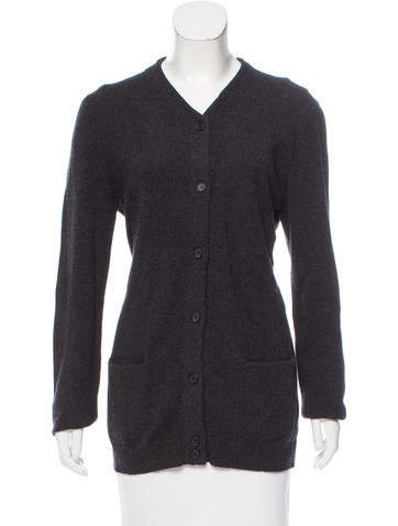 The Row Long Sleeve Button-Up Cardigan None