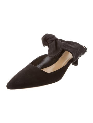 outlet best wholesale discount clearance store The Row 2017 Suede Coco Mules w/ Tags discount view QQTplAW