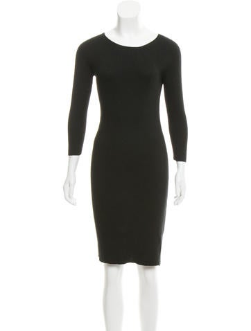The Row Knit Long Sleeve Dress None