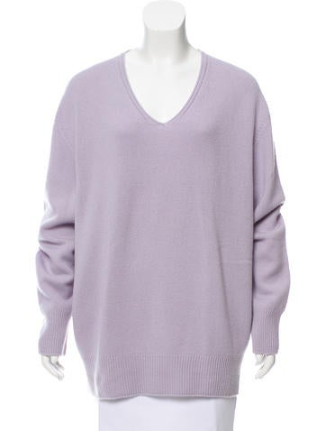 The Row Long Sleeve V-Neck Sweater None