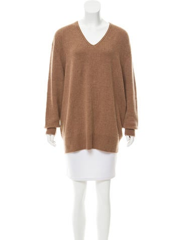 The Row Knit V-Neck Sweater None