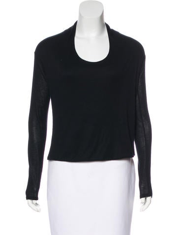 The Row Long Sleeve Scoop Neck None
