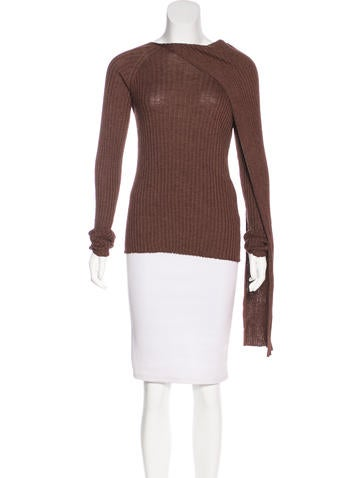 The Row Silk & Wool Top None