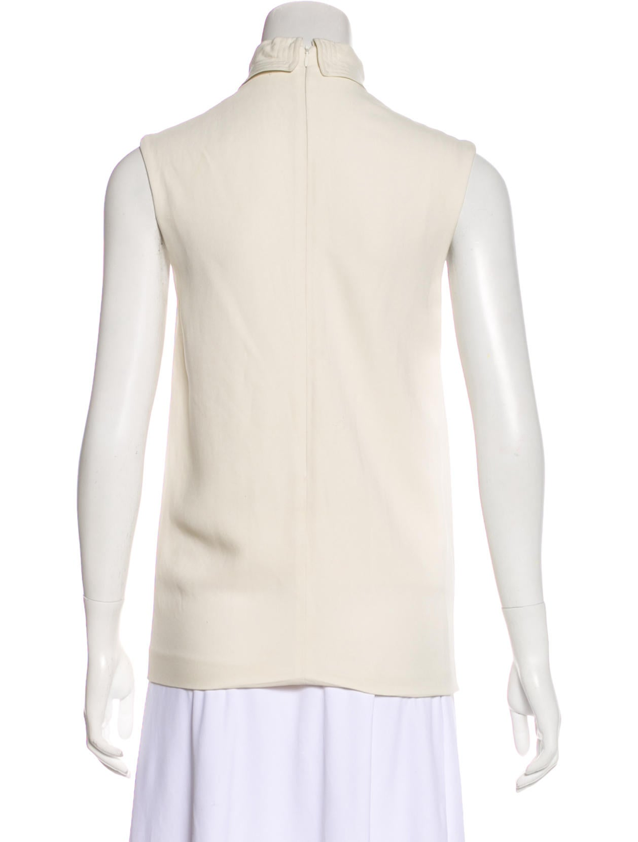 The row sleeveless mock neck top clothing thr35631 for Sleeveless mock turtleneck shirts