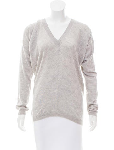 The Row V-Neck Knit Sweater None