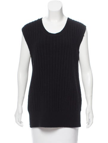 The Row Zip-Accented Sleeveless Top None