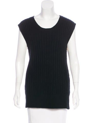 The Row Wool Sleeveless Top None