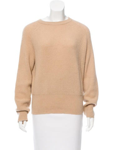 The Row Rib Knit Camel Sweater None