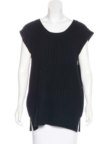 The Row Wool & Cashmere-Blend Top None