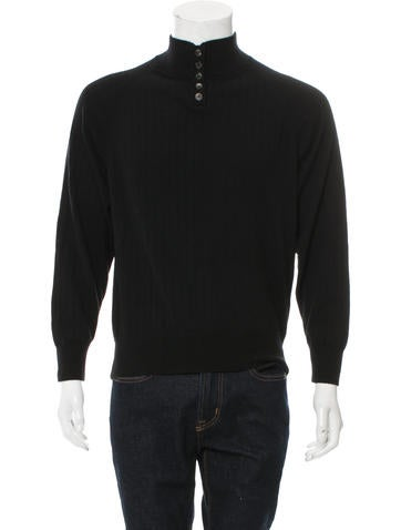 The Row Cashmere Rib Knit Sweater None