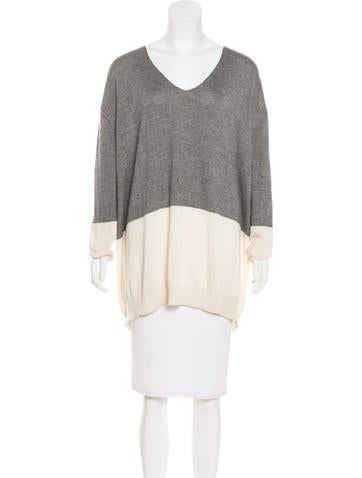 The Row Oversize Colorblock Sweater None
