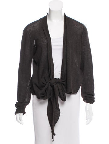 The Row Knit Long Sleeve Cardigan None