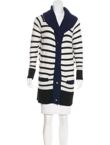 The Row Cashmere Striped Cardigan None
