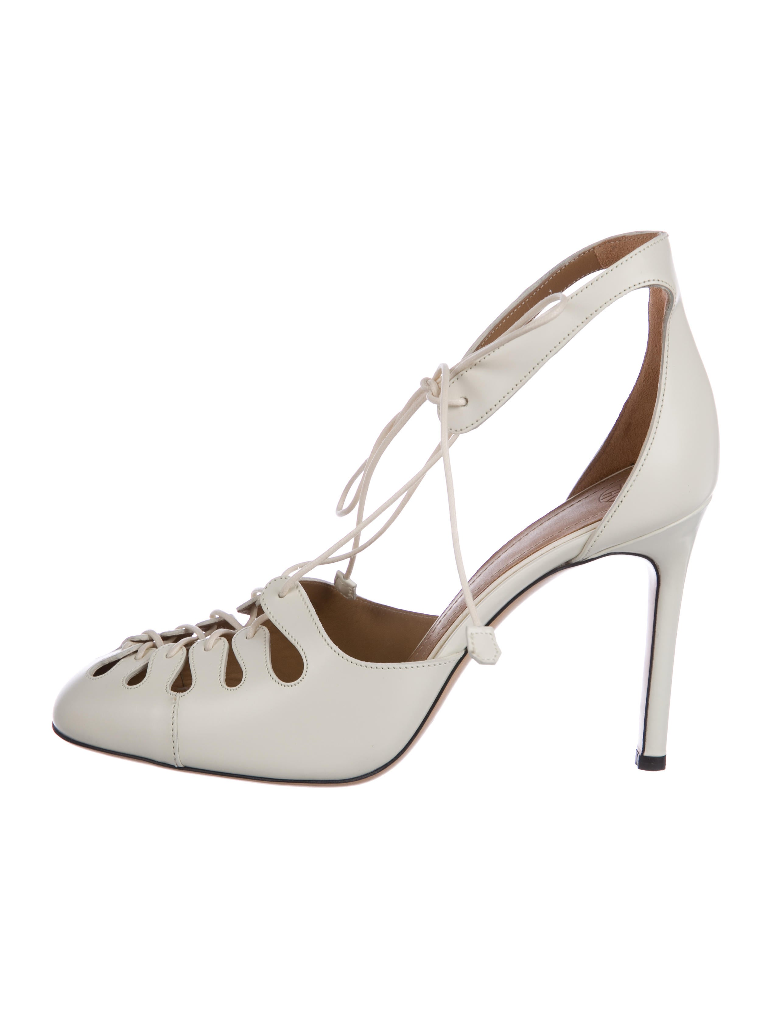 clearance in China Cheapest cheap price The Row Leather Square-Toe Pumps pre order for sale eqr1dx