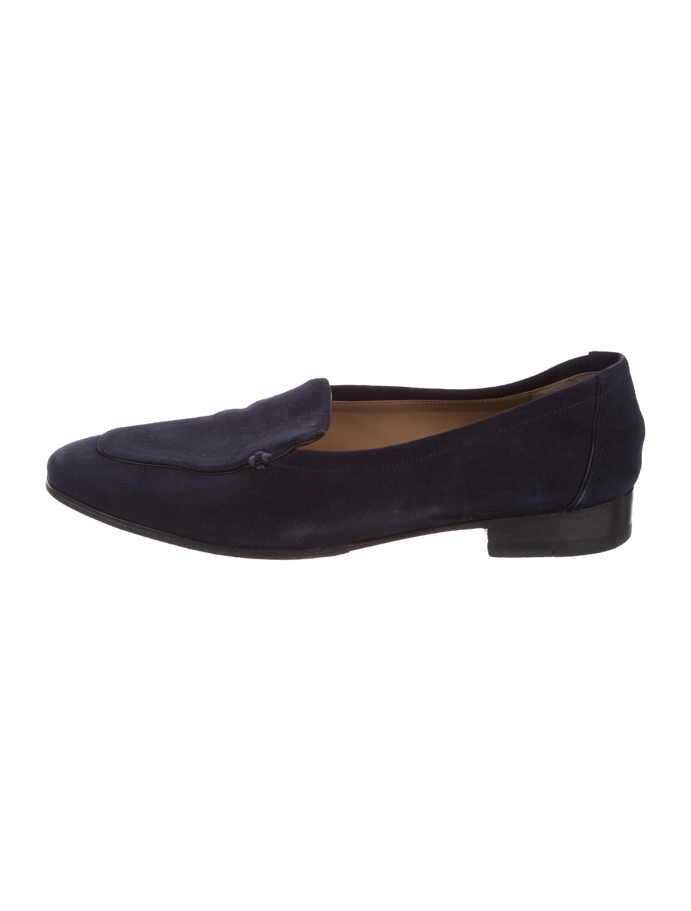 The Row Suede Square-Toe Loafers largest supplier amazing price cheap online cheap sale fake 8L0nK