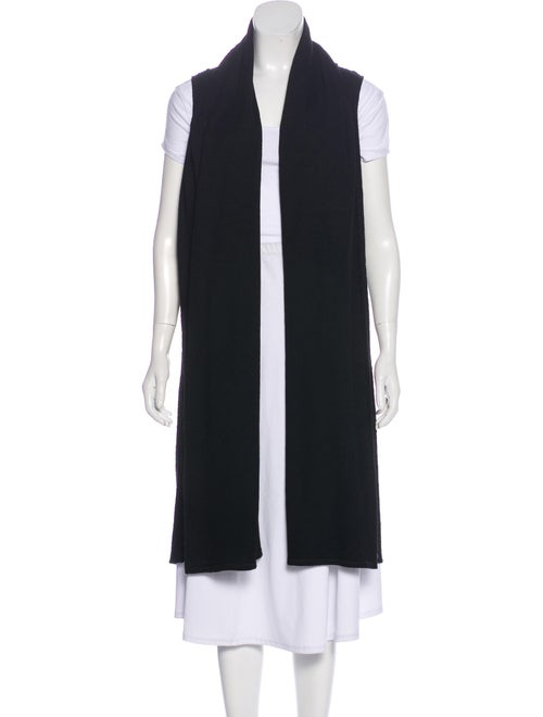 The Row Sleeveless Knit Cardigan Black
