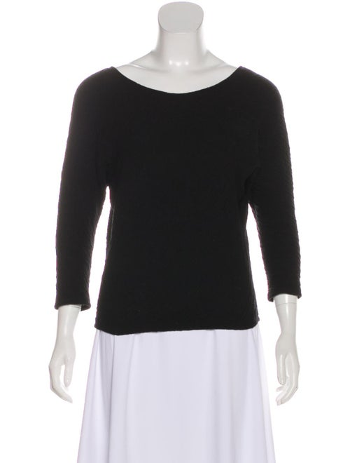 The Row Textured Knit Sweater Black
