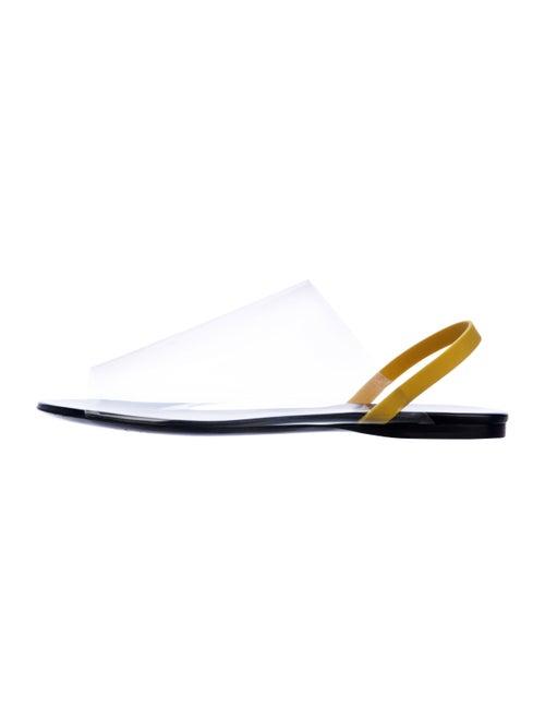 The Row PVC Slingback Sandals Clear