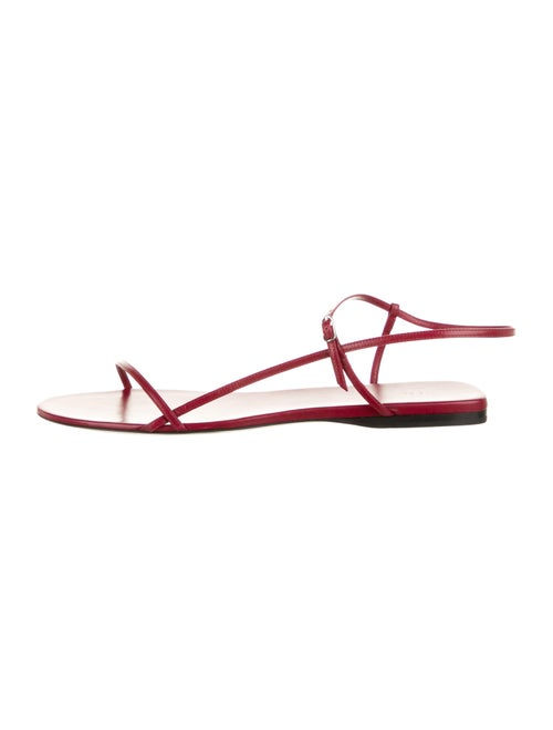 The Row Bare Leather Sandals w/ Tags Red