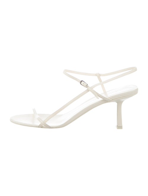The Row Bare Leather Sandals w/ Tags White