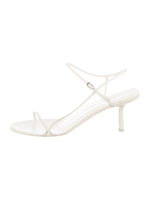 The Row Bare Leather Ankle-Strap Sandals White