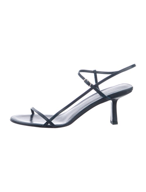 The Row Bare Leather Sandals Green