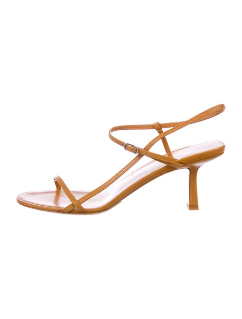 The Row Bare Leather Sandals Orange
