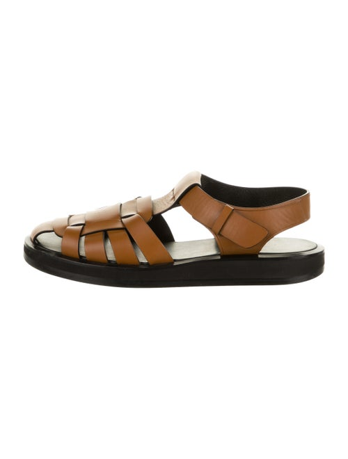 The Row Gaia Leather Sandals Brown
