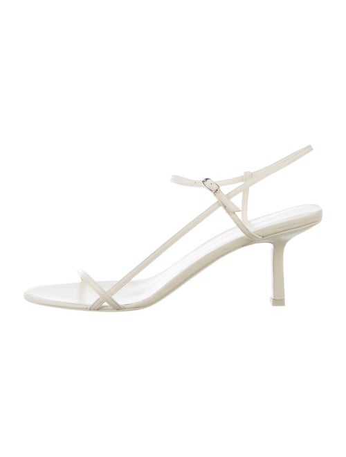 The Row The Bare Leather Sandals w/ Tags White