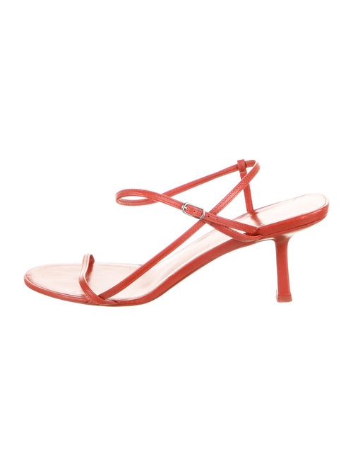 The Row Bare Leather Slingback Sandals Red