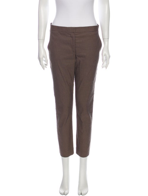 The Row Plaid Print Straight Leg Pants Brown