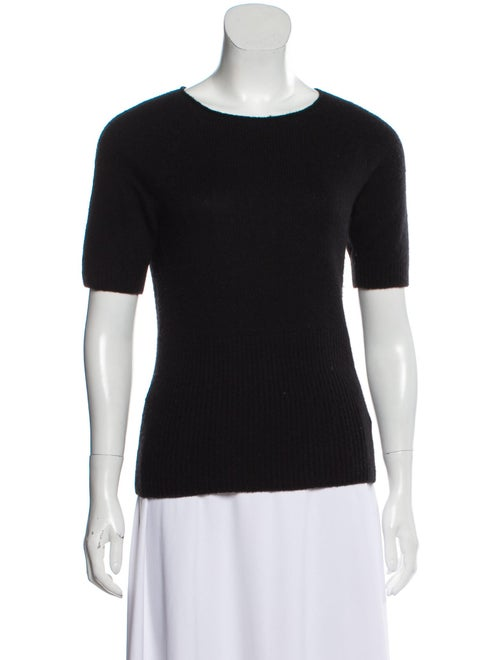 The Row Cashmere Short Sleeve Sweater Black