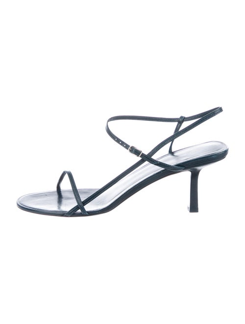 The Row Bare Leather Sandals Blue