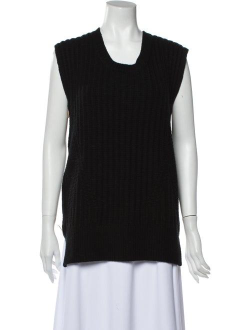 The Row Scoop Neck Sweater Black
