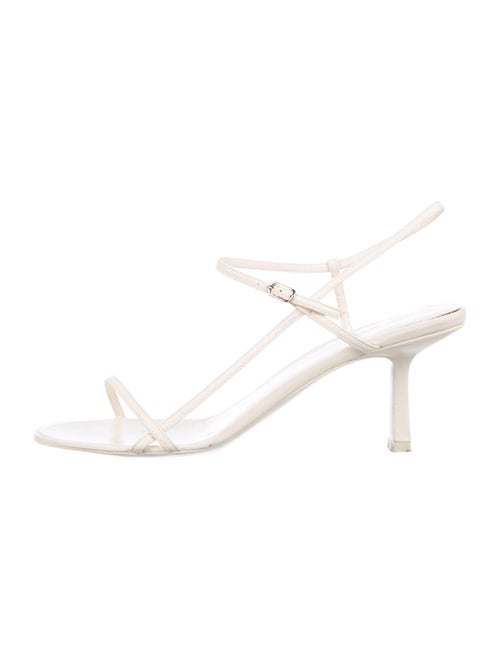 The Row Leather Sandals White
