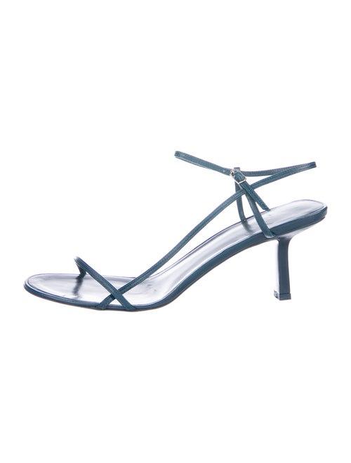 The Row Leather Sandals Blue