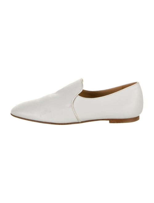 The Row Leather Loafers White