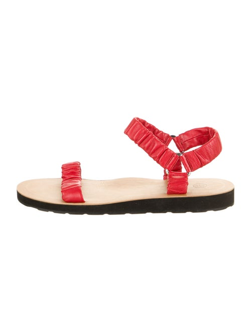 The Row Leather Sandals Red - image 1