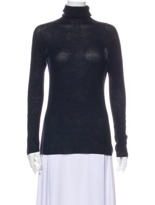The Row Turtleneck Sweater Blue