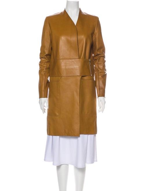 The Row Lamb Leather Coat