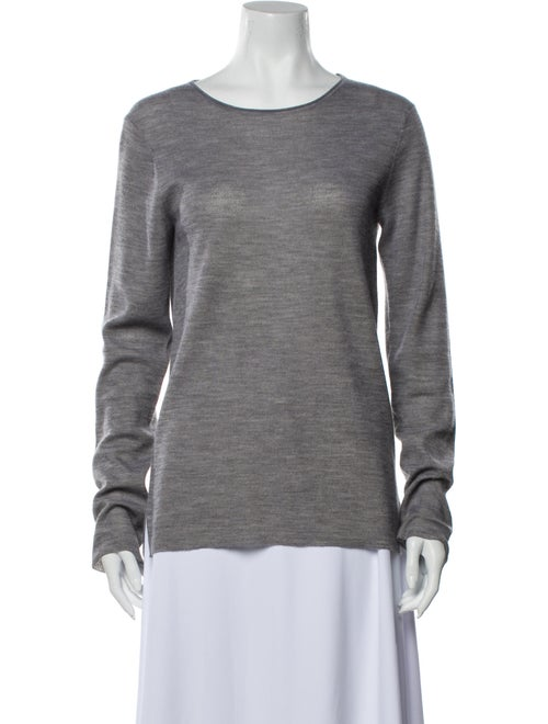 The Row Scoop Neck Sweater Grey