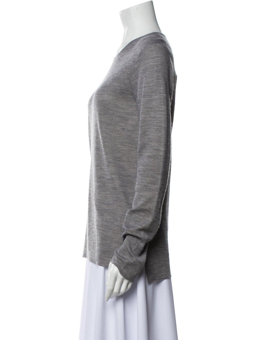 The Row Scoop Neck Sweater Grey - image 2