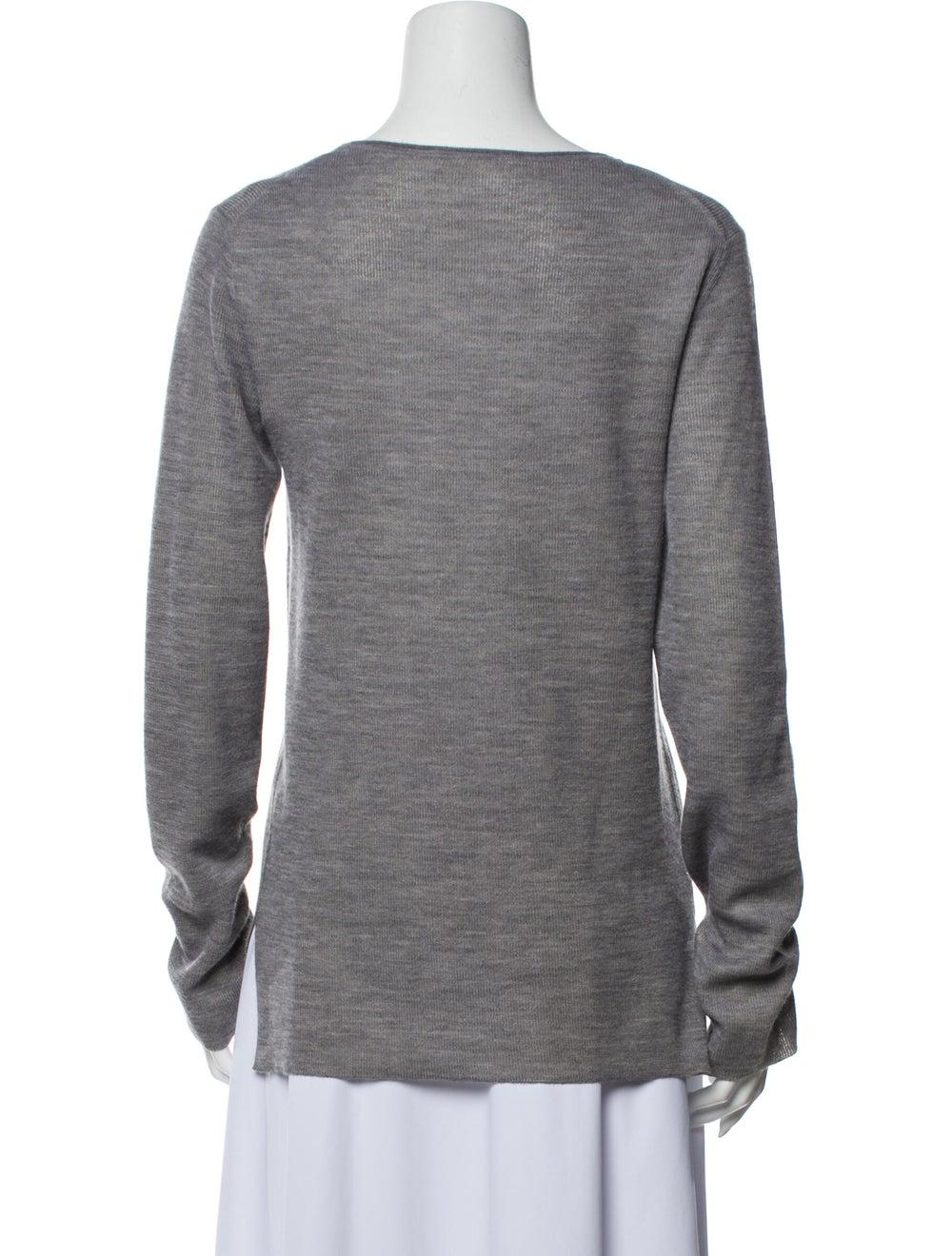 The Row Scoop Neck Sweater Grey - image 3