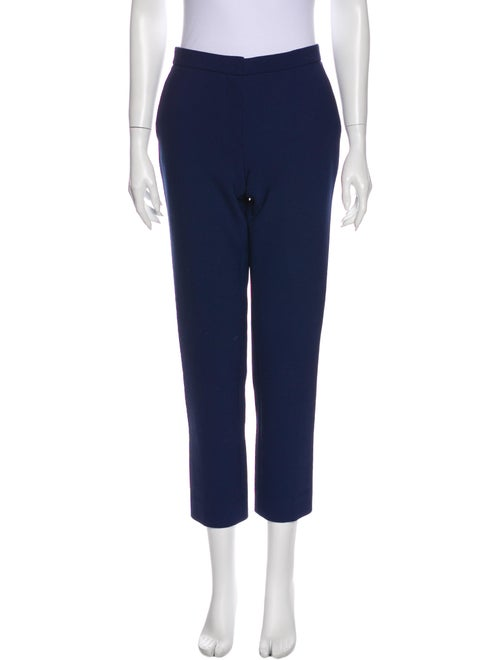 The Row Straight Leg Pants Blue