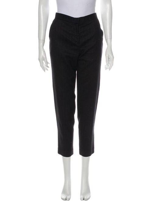 The Row Straight Leg Pants Black